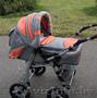 Продам коляску Adamex Galaxy серебристо-оранжевого цвета